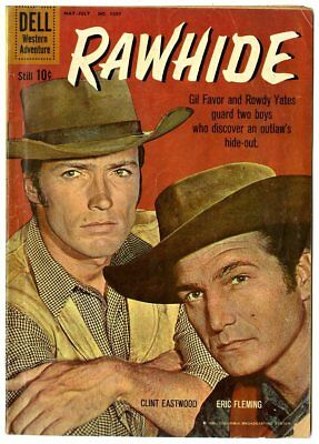 Four Color #1097 G/VG 3.0  Rawhide  Clint Eastwood Photo Cover  Dell  1960
