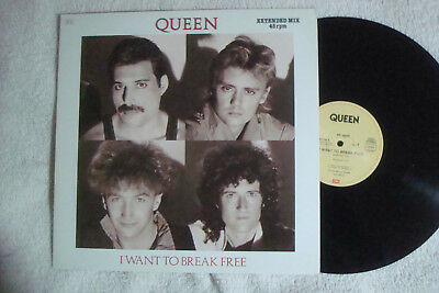 "Queen - I Want To Break Free - Extended - 12"" Maxi !!!"