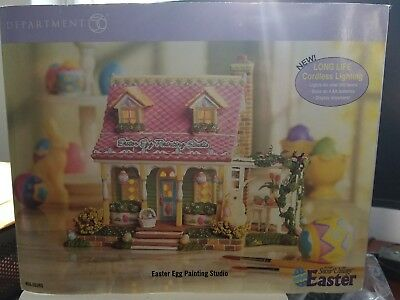 Department 56 Snow Village Easter Egg Painting Studio
