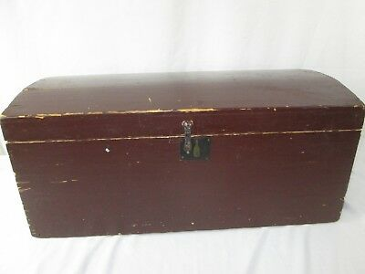 Antique Small Dome Top Trunk  C1875