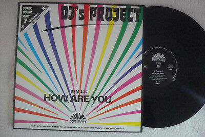 "DJ's PROJECT - HOW ARE YOU - 12"" MAXI !!!"