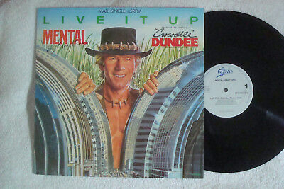 "Mental As Anything - Live It Up - Extended - Crocodile Dundee - 12"" Maxi !!!"