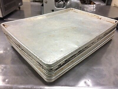 used Commercial Grade 18 x 26 Full Size Aluminum Sheet Pan Baking Tray cookie