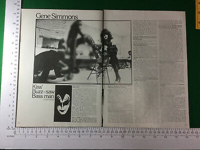Gene Simmons of Kiss magazine article / feature - late 1978