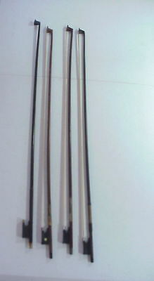 4 Vintage VIOLIN BOWS One Marked ROTH-GLASSER One Marked CANADA