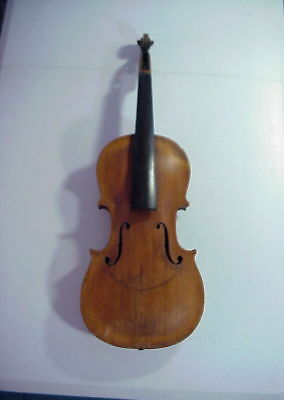 Finely Made Antique VIOLIN with 1 Piece Back and No Purfling
