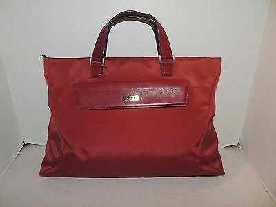 TUMI  Red Microfiber Laptop carrying case,