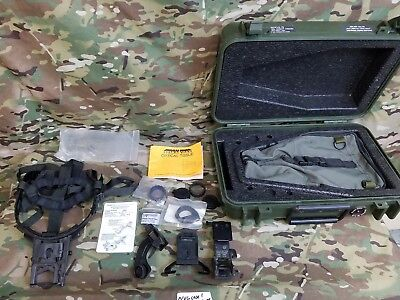 LOT of used military surplus NVG accessories & hard carrying pelican style case