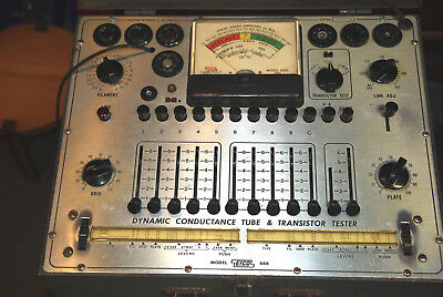 Eico Model 666 Dynamic Conductance Vacuum Tube and Transistor Tester Working