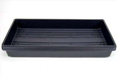 5 Pack of Durable Black Plastic Growing Trays (Without Drain Holes) 21 X 11 X 2