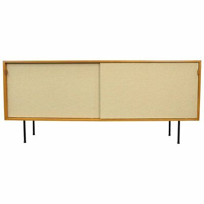 Early Florence Knoll Maple Seagrass Credenza Bar Cabinet Mid-Century Modern 1950