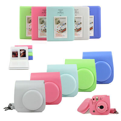 For Fujifilm Instax Mini 9 Instant Film Camera Bag Case Cover + 64 Pockets Album