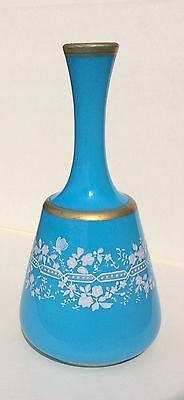 Antique French Blue Opaline Glass Vase