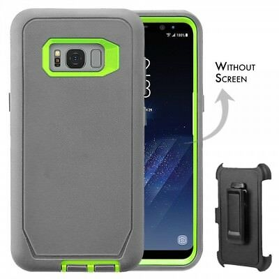 For Samsung Galaxy S8 Case Universal Clip Fits Otterbox Defender GRAY GREEN