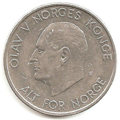 1963 Norway 5 Kronor Coin.