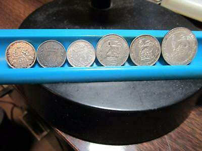 Great Britain - 6 Coin Silver Lot - High Grade - Silver - See Scans     (J-28)