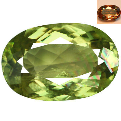 7.25Ct Sparkling Oval Cut 15 x 10 mm AAA Color Change Turkish Diaspore