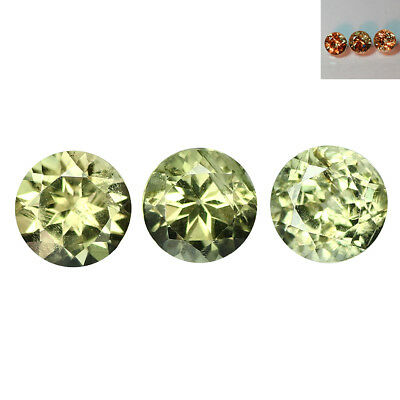 3.01Ct 5Pcs Lot Pretty Round Cut 6 x 6 mm AAA Color Change Turkish Diaspore