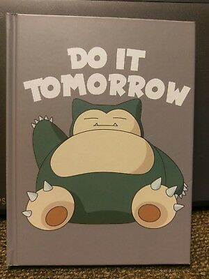 "Pokemon Snorlax ""Do it Tomorrow"" Notebook BRAND NEW FREE SHIPPING!!!!"