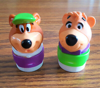 Yogi & Boo Boo Bear SQUIRT BOTTLE TOPPERS (Ketchup, & More!) - GREAT CONDITION!