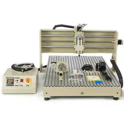 USB CNC Router 4Axis 6090 6040 2200/1500W Metal ngraver Milling Drilling Machine