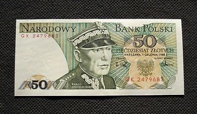 Bank Note Of Poland (People's Republic) 50 Zloty Swierczewski (Mint Condition)