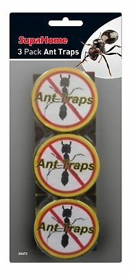 SupaHome Ant Killer Trap Stop Bait Stations Destroy Ants Nests Pack of 3