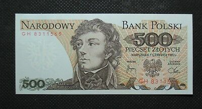 Bank Note Of Poland (People's Republic) 500 Zloty T. Kosciuszko (Mint Condition)