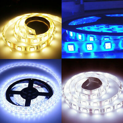 1M 2M 3M 5M 3528 Led Strip Lights Stick-on Roll Waterproof Flexible 12Volt Party