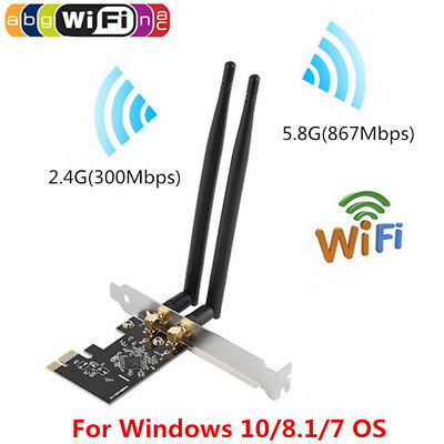 PCI Express 1200Mbps Wireless Card WiFi Adapter Dual Band EP-9607 w/ Antennas TP