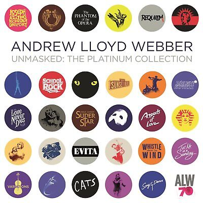 ANDREW LLOYD WEBBER - Unmasked The Platinum Collection 2CD *NEW* 2018