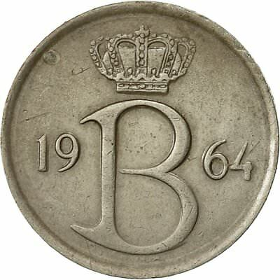 [#540818] Coin, Belgium, 25 Centimes, 1964, Brussels, EF(40-45), Copper-nickel