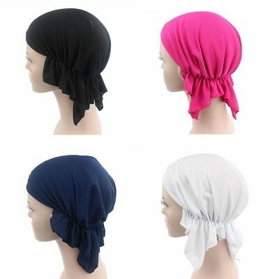 Popular Women Cancer Chemo Cap Hair Loss Ruffle Scarf Turban Head Wrap Cover POP