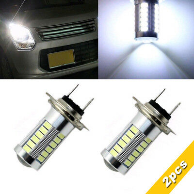2x H7 6500K 5630 33 SMD LED 12V Auto Car Fog Light Headlight Lamp Bulbs White
