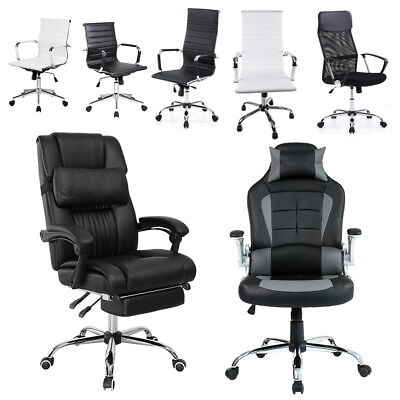 New Gaming Chair Adjustable Fx Leather Racing Office Executive Recliner Footrest