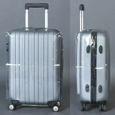 PVC Transparent Travel Luggage Protector Suitcase Cover Dustproof Waterproof New