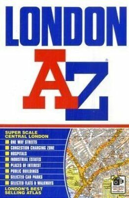 1843486024 Paperback London Street Atlas (A-Z Street Atlas) Geographers' A-Z Map