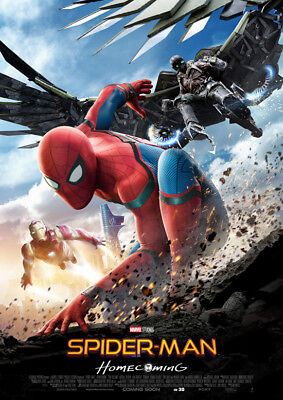 Spiderman Homecoming Poster Print Borderless Glossy Vibrant Stunning A1 A2 A3 A4