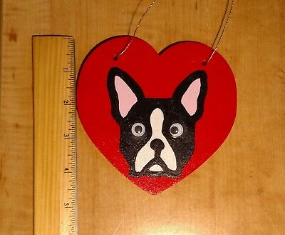 Handmade Boston Terrier Wood Ornament - 2