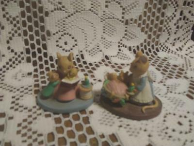 Avon Gift Collection Miniatures-MINI FOREST FRIENDS-2-STORY TIME & TUCKED IN