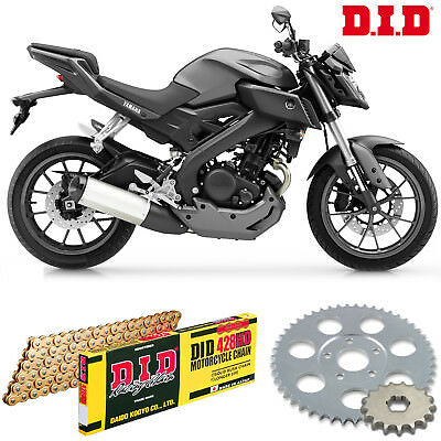 DID Heavy Duty Gold Chain & JT Sprocket Upgrade Kit Yamaha MT125 (ABS) 2015-2017