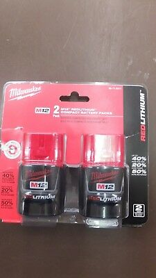 Milwaukee M12 Red Lithium Compact Battery Pack 48-11