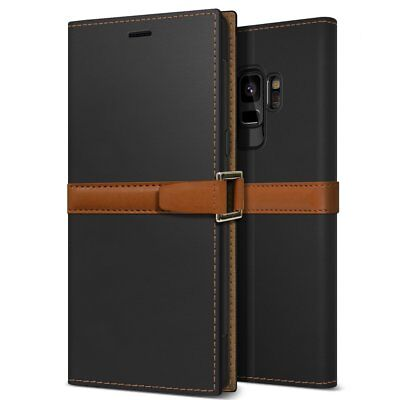 OBLIQ® Galaxy S9/S9 Plus [Z2 Wallet] Hand Made Leather Case Folio w/ Kickstand
