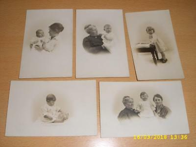 Vintage Collection - Three Generations - Same Baby Girl Old Postcards