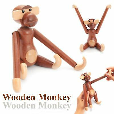 18x20cm Denmark Style Animals Doll Teak Wood Monkey Children Toy Gift Decor