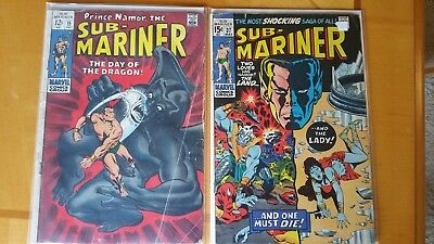 SUB-MARINER #15 and # 37  MARVEL SILVER AGE lot TWO BOOKS