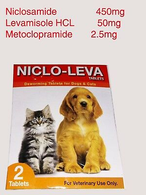 2pcs (4 Tablets) Dog Cat Deworming Tablets for Pet Health