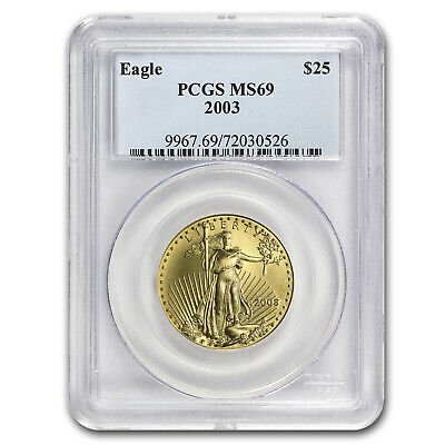 2003 1/2 oz Gold American Eagle MS-69 PCGS - SKU #10447