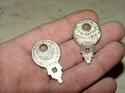 Vintage Antique Lot of 2 Wise Co Concentric Tube Lock Keys Key Steampunk # 9