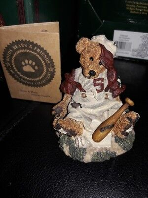 NEW in Box Boyds Homer on the Plate Bear Figurine Bearstone #2225 NIB 27E/#1389